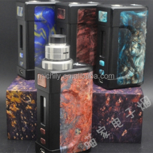 Free sample stabilized wood box mod dbox 75w resin 26650 Battery AK100