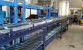 Double layer power roller conveyor for supermarket