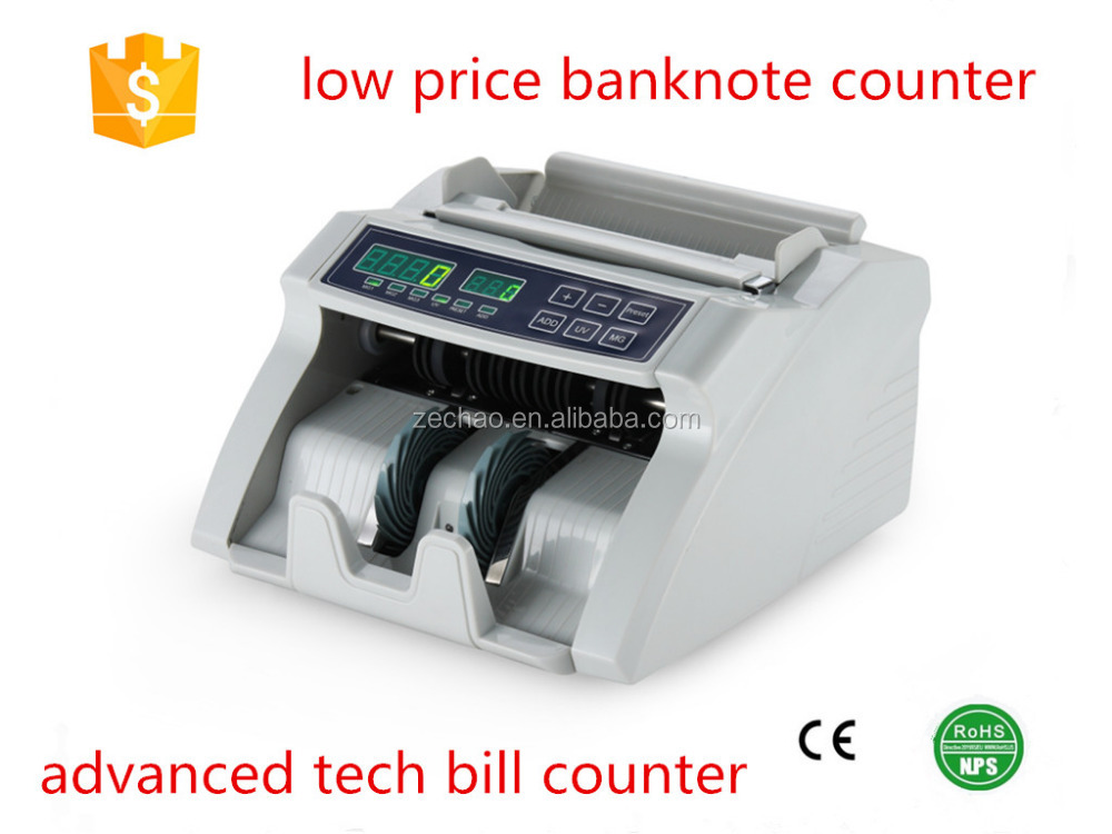 double LCD display cash counter high quality hot sale money counter intelligent cash counter
