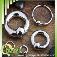316L Stainless Steel captive bead ring
