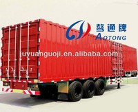 3 Axle 50tons Van Cargo Transport Semi Trailer/Box Truck Trailer for sale
