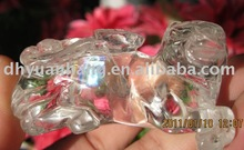 Excellent Natural clear quartz lucky crystal cattle
