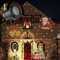 Holiday Decoration Waterproof Outdoor LED Stage Lights 12 Types Christmas Laser Snowflake Projector lamp Home Garden Star Light