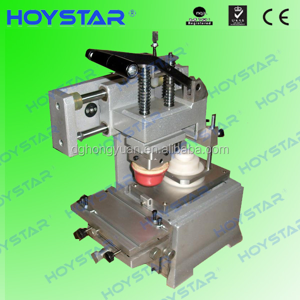 Manual tampon pad printing machine one color closed ink cup system
