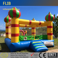 Customized size mini family fun center inflatable bouncer bouncy bed