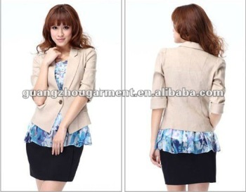 2012 fashion casual skirt suits