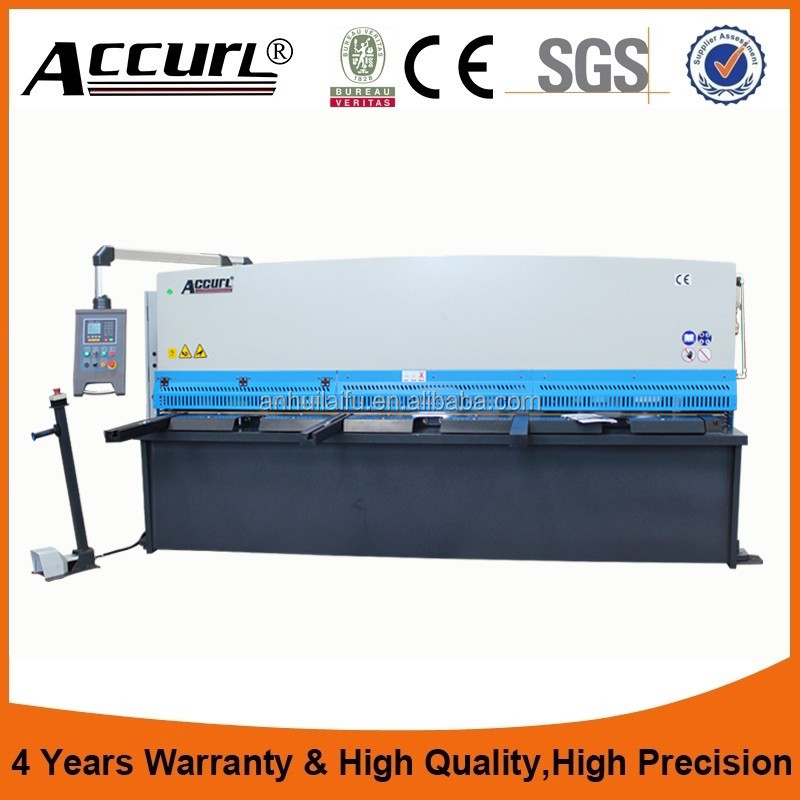 Accurl NC machine manufacturer laser cutting swing <strong>beam</strong> shearing machine