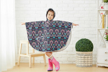 Wholesale Custom Pattern Printed Polyester Kids Rain Poncho