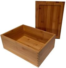 Wood Stash Box with Rolling Tray - Large Wood Stash Box <strong>w</strong>/Storage - Dark Brown Stash Boxes - Premium Quality Dovetail Design Woo