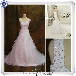 RSW411 Wide Shoulders Straps Crosses Bridal Wedding Dress China