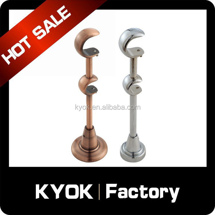KYOK New design curtain rod brackets, wall hanging metal bracket for russia market