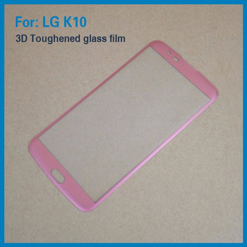 9H 3D Full Cover Tempered Glass Screen Protector for LG <strong>K10</strong> with Full Screen Size factory direct sale