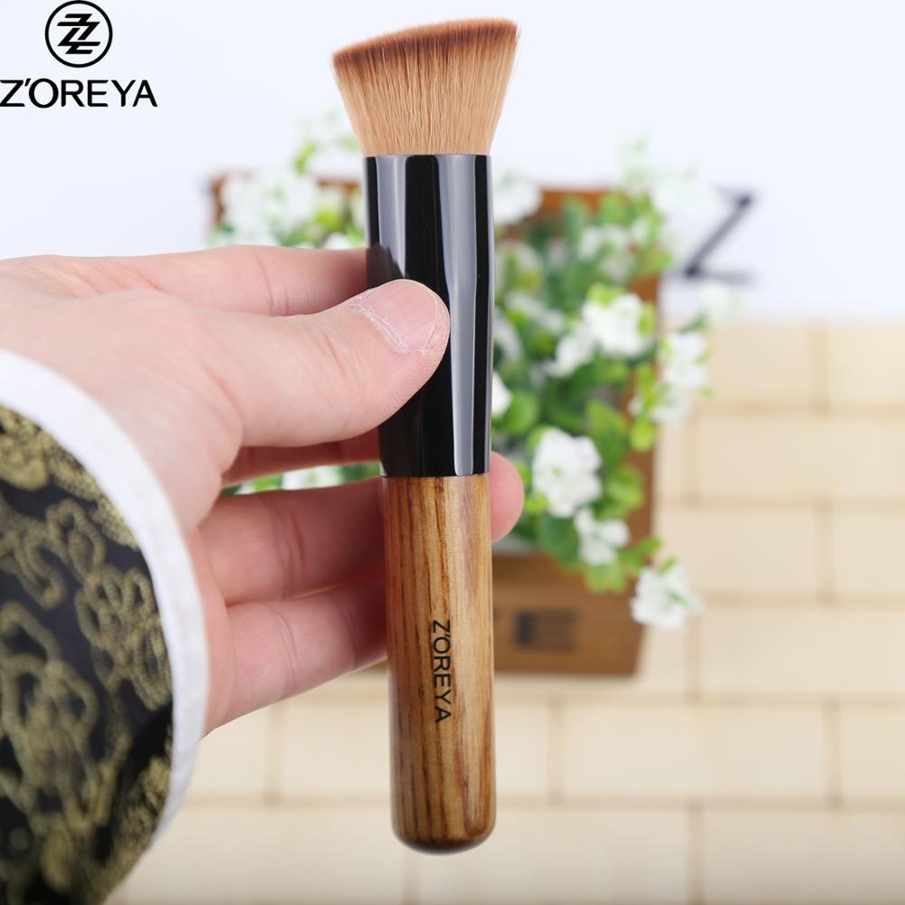 Makeup brushes manufacturers ashtree handle angled liquid foundation makeup brush