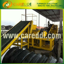 Tire recycling production line/tire shredder