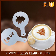 Plastic food grade 50pcs package cappuccino coffee cup stencil