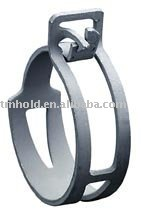 Spring band hose clamp