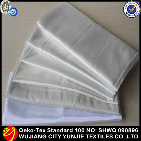 2014 newly elegant smooth cheap white satin fabric