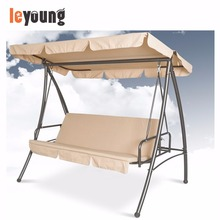 3 Seat Outdoor Hanging Ceiling Patio Bed Swing Chair for Adults with Canopy