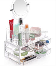 wholesale acrylic makeup organizer with drawers acrylic makeup case for display showcase