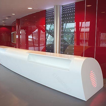 long size reception for office , office reception design