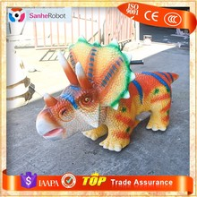 SH-S016 Amusement park mini car electric cartoon dinosaur rides for kids