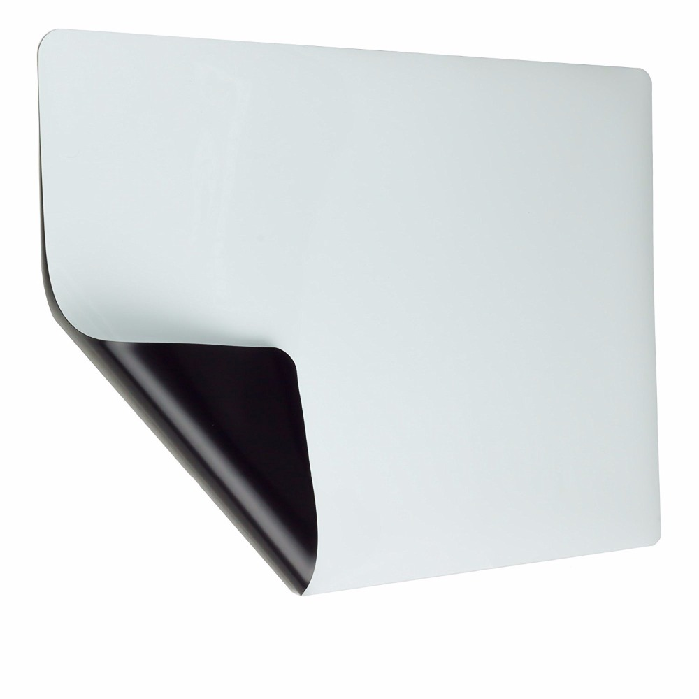 Adhesive rubber magnet blank whiteboard PET laminated flexible thin magnetic sheet