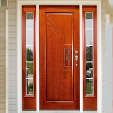 HS-YH8046 over rustic melamine wooden entry paint colors exterior door with glass
