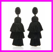 KDA4950-2 wholesale handmade very long fashion tassel earrings
