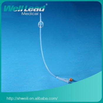 Silicone foley catheter with Couvelaire tip