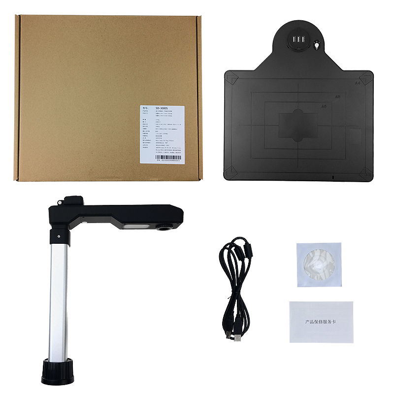 SD-3000 10 Million + 5 Million Pixel A3 A4 CMOS Folding Overhead Scanner Document Scanner With Camera Video Recorder