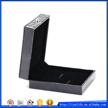 Fashionable manufacture black crocodile cufflink box