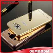 free sample luxury metal mirror cell phone case for galaxy J7