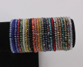 4mm Briolette Crystal Faceted Rondelle Beads Bracelets Strand Elastic Beaded Bracelet Stretchable Bangle Jewelry