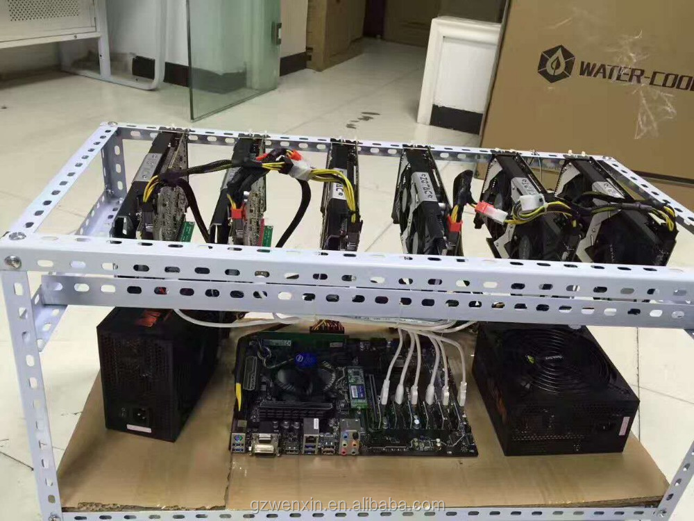 ETH Mining CASE Rig , 6 Video Cards GPU's Slots