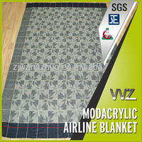 100%Modacrylic flame retardant airline blankets JACQUARD DESIGN EMBROIDERY LOGO PASS THE TEST OF FAR 25.853