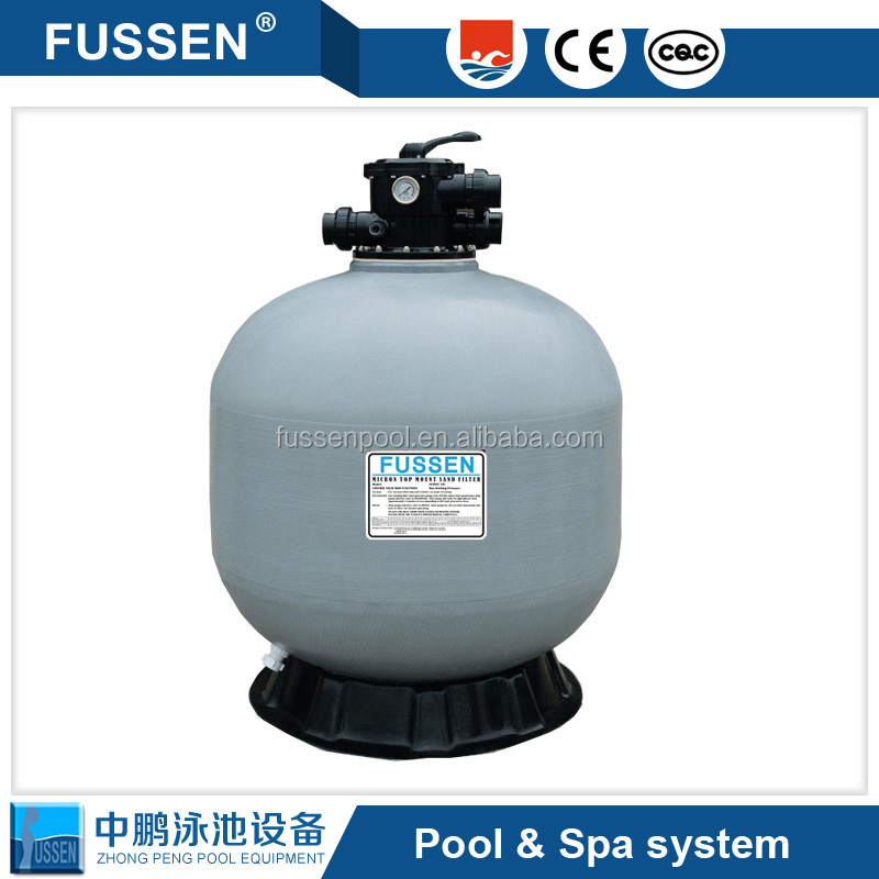 Swimming pool cleaning equipment and swimming pool treatment and sand filter
