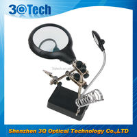 DH-86010 tweezer magnifier with led light lighted stand magnifier