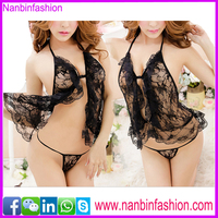 new design black see through babydoll sexy lingerie