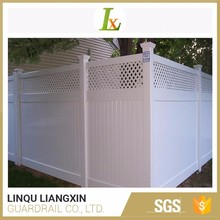 8 Years Experience Low Price White Lattice Vinyl Fence Panels