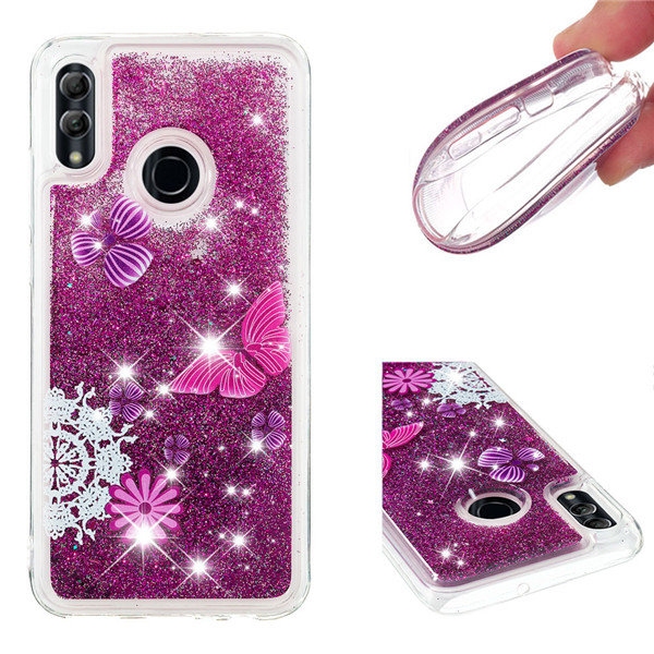 2019 Wholesale 3D Flowing Glitter phone back covers Tpu cell Phone case for Huawei Honor 10 Lite Covers for <strong>P</strong> Smart 2019