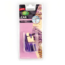 Top glass bottle hanging car perfume with wooden cap