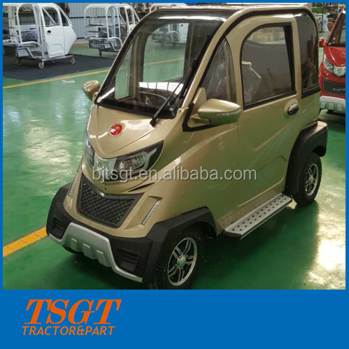CE approved Chinese new type powerful mini electric car with closed cabin