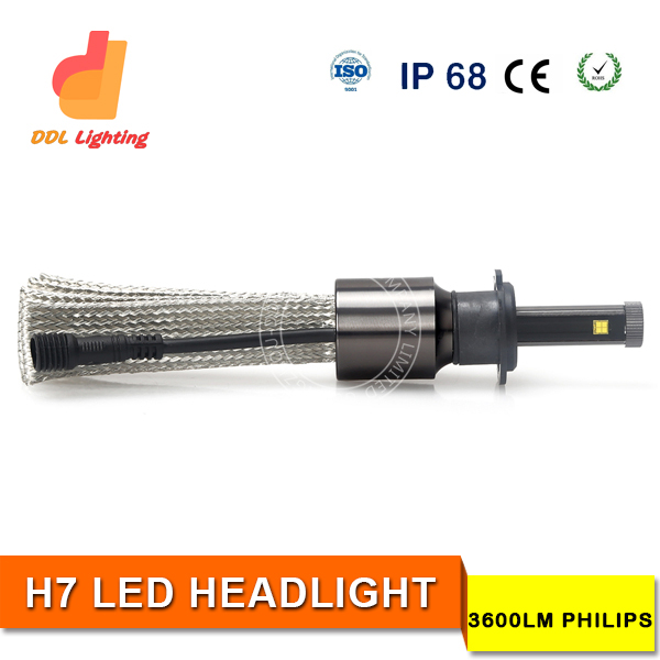 Waterproof IP68 H7 vw jetta projector headlight with long lifespan