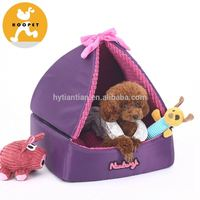 Hot Sell purple beautiful dog triangle tent beds pet products