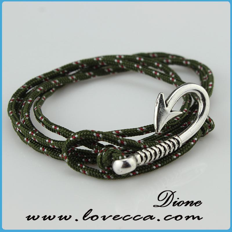 Modern fishing jewelry mens anchor leather bracelet men for Mens fishing bracelet