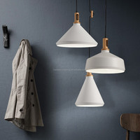 Wood Amp Metal Cone Chandelier Pendant