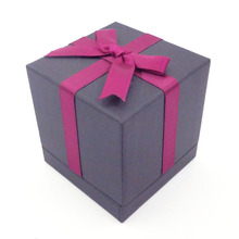 Specialty Paper Small Black Packaging Boxes with Ribbon, Empty Small Gift Box Packaging