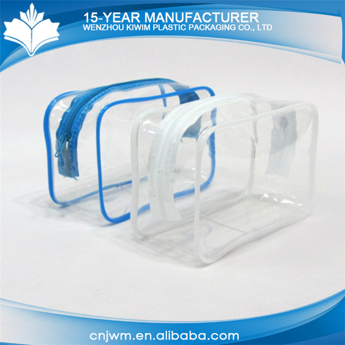 Manufacturing company clear plastic cosmetic bag