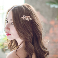 Jewelry Wholesale!!! 2016 NEW Vintage Hair Accessories Fashion Rose Leave Headband Hair Pin for Women MoonSo KH2613