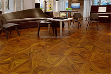 interlocking 15mm multilayer PU painted AB grade teak parquet engineered wood <strong>flooring</strong>